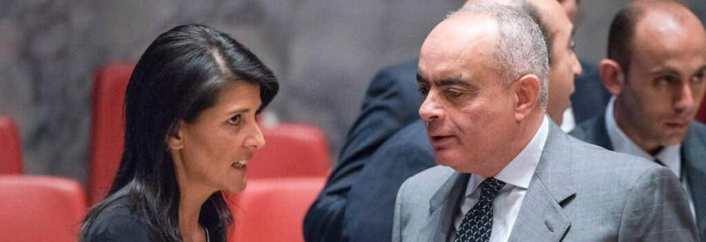 Photo: Nikki Haley and the Egyptian ambassador to the UN, Amr Aboulatta