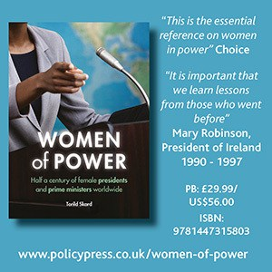 dvertisement for Book — Women of Power by Torild Skard, published by Policy Press - policypress.co.uk/women-of-power