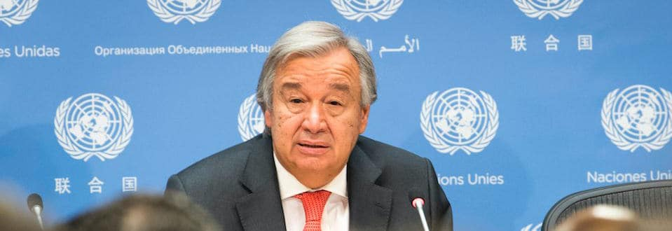 António Guterres, the UN secretary-general