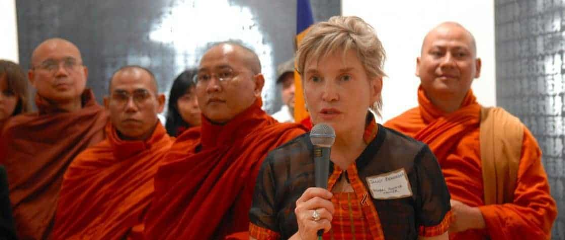 Photo of Janet Benshoof, a lawyer-activist, leads the Global Justice Center in New York.
