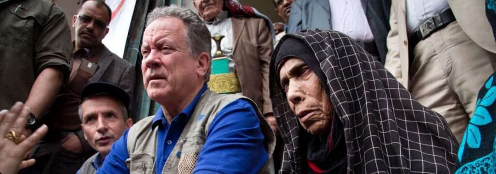 David Beasley, the head of the World Food Program, visiting Sanaa, Yemen