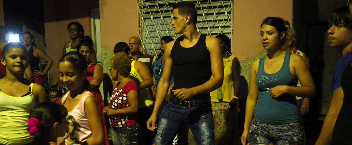 Cubans waiting to be served food during the country's annual celebration of its revolution.