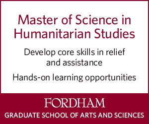 Master of Science in Humanitarian Studies - Fordham Graduate School of Arts and Sciences