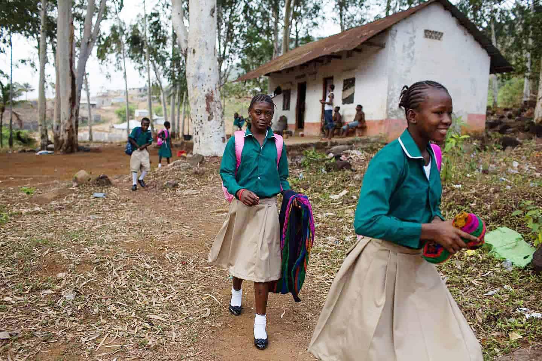 Schoolgirls in Sierra Leone