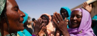 Women from North Darfur performing a traditional dance