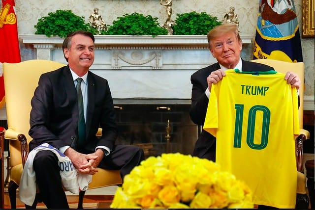 President Jair Bolsonaro of Brazil with President Donald Trump