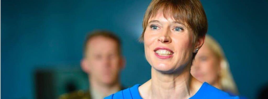 Kersti Kaljulaid, the president of Estonia,