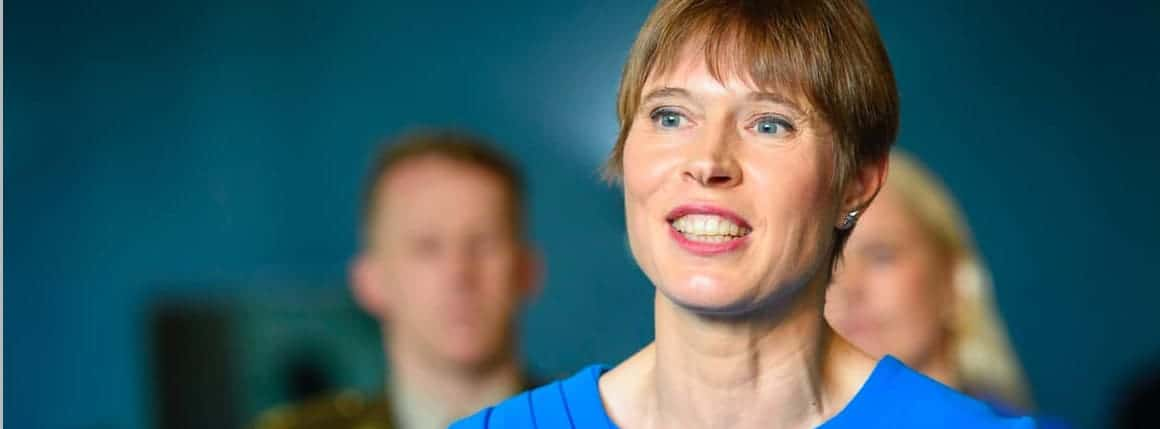 Kersti Kaljulaid, the president of Estonia,