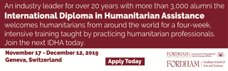 International Diploma in Humanitarian Assistance - Fordham Institute of International Humanitarian Affairs