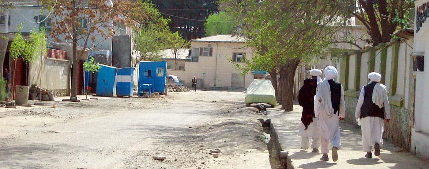 A street scene in Kabul, Afghanistan