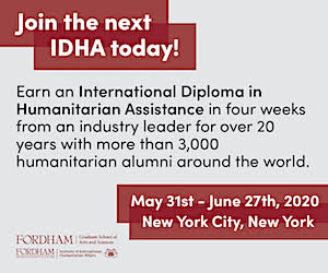 Fordham International Diploma in Humanitarian Assistance