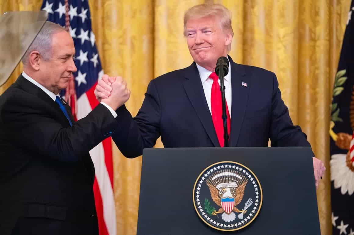 President Trump with Israeli Prime Minister Netanyahu in the White House