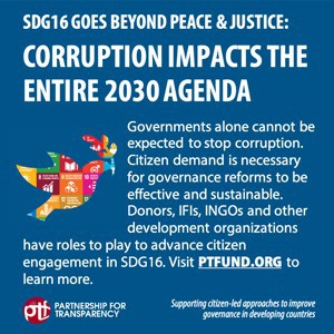 New PTF Report Calls for Expanded Support for Civil Society Programs to Achieve SDG16
