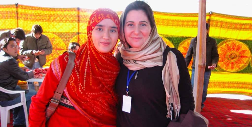 Authors Samea Shanori and Fiona Shukri in Kabul