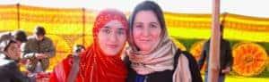 Authors Samea Shanori and Fiona Shukri in Kabul