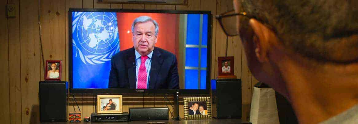 Secretary-General António Guterres holds a virtual press briefing