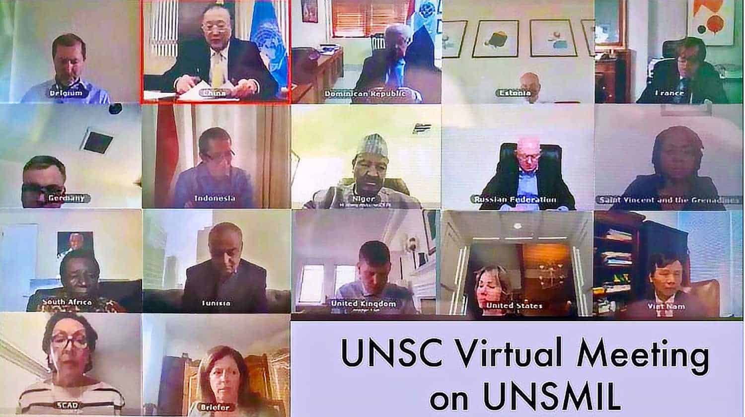 United Nations Security Council Virtual Meeting