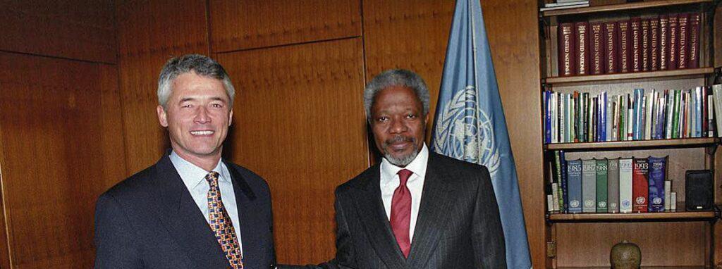 Secretary-General Kofi Annan and Sergio Vieira de Mello