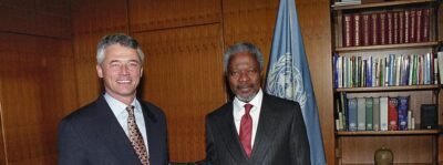 Secretary-General Kofi Annan and Sergio Vieira de Mello