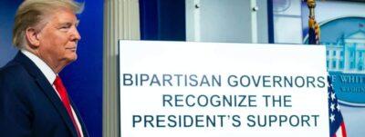 President Trump at a coronavirus update briefing