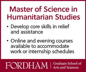 Master of Science in Humanitarian Studies at Fordham University