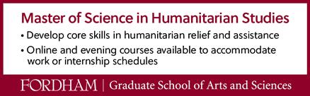 Master of Science in Humanitarian Studies at Fordham University