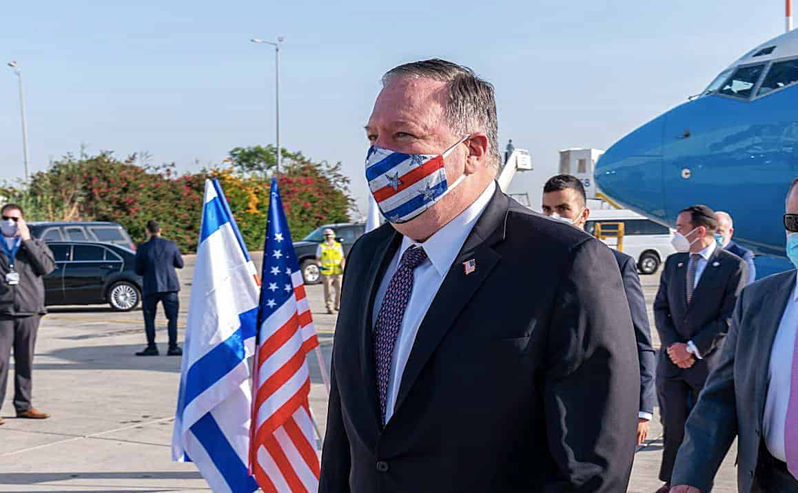 Secretary of State Mike Pompeo in Israel on May 13 2020