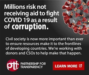 Millions risk not receiving aid to fight Covid-19 as a result of corruption