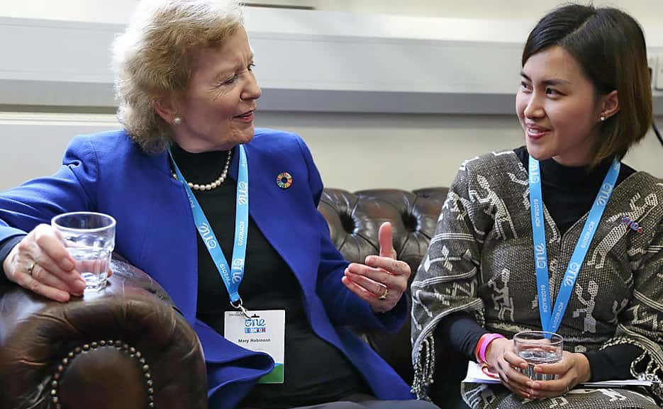 Mary Robinson andManoly Sisavanh