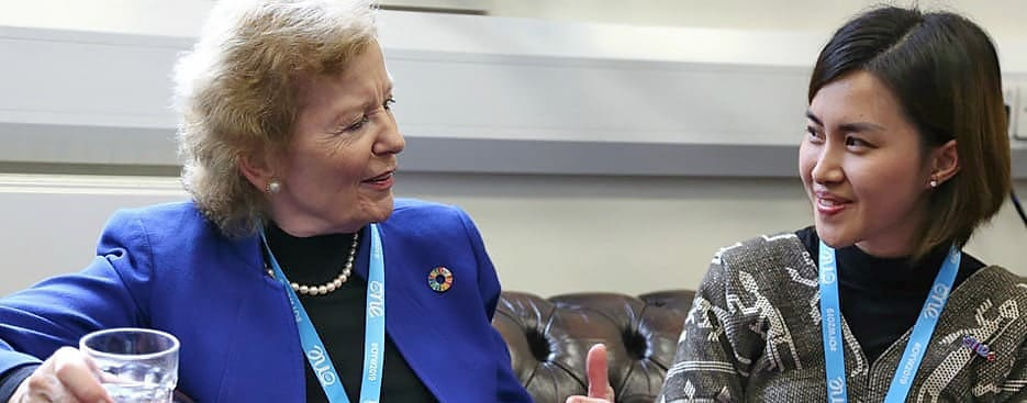 Mary Robinson and Manoly Sisavanh