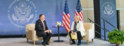 Photo of Mike Pompeo and Maryann Glendon