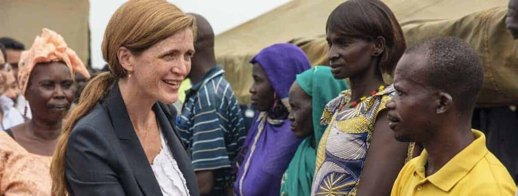 Photo of Samantha Power in South Sudan