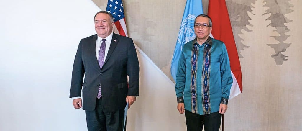 Secretary of State Pompeo with Ambassador Dian Triansyah Djani of Indonesia