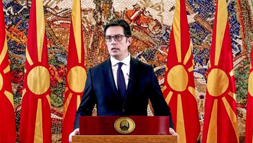 President Stevo Pendarovski of North Macedonia