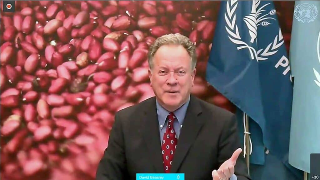 David Beasley, the head of the World Food Program