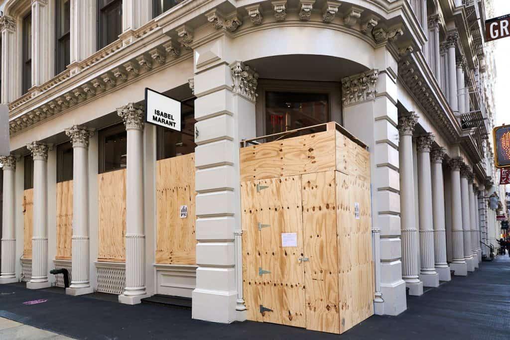 Boarded Soho NYC Storefront Nov 2020