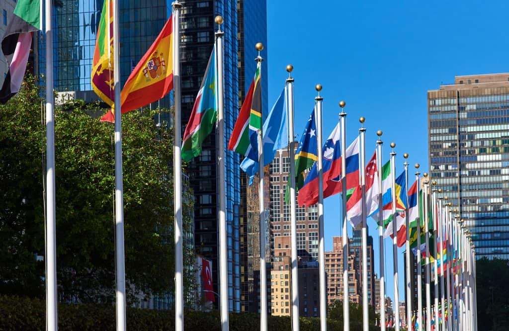 Flags of United Nations Member States outside of the UN in New York