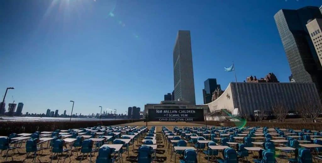 Pandemic Classroom exhibition at UN