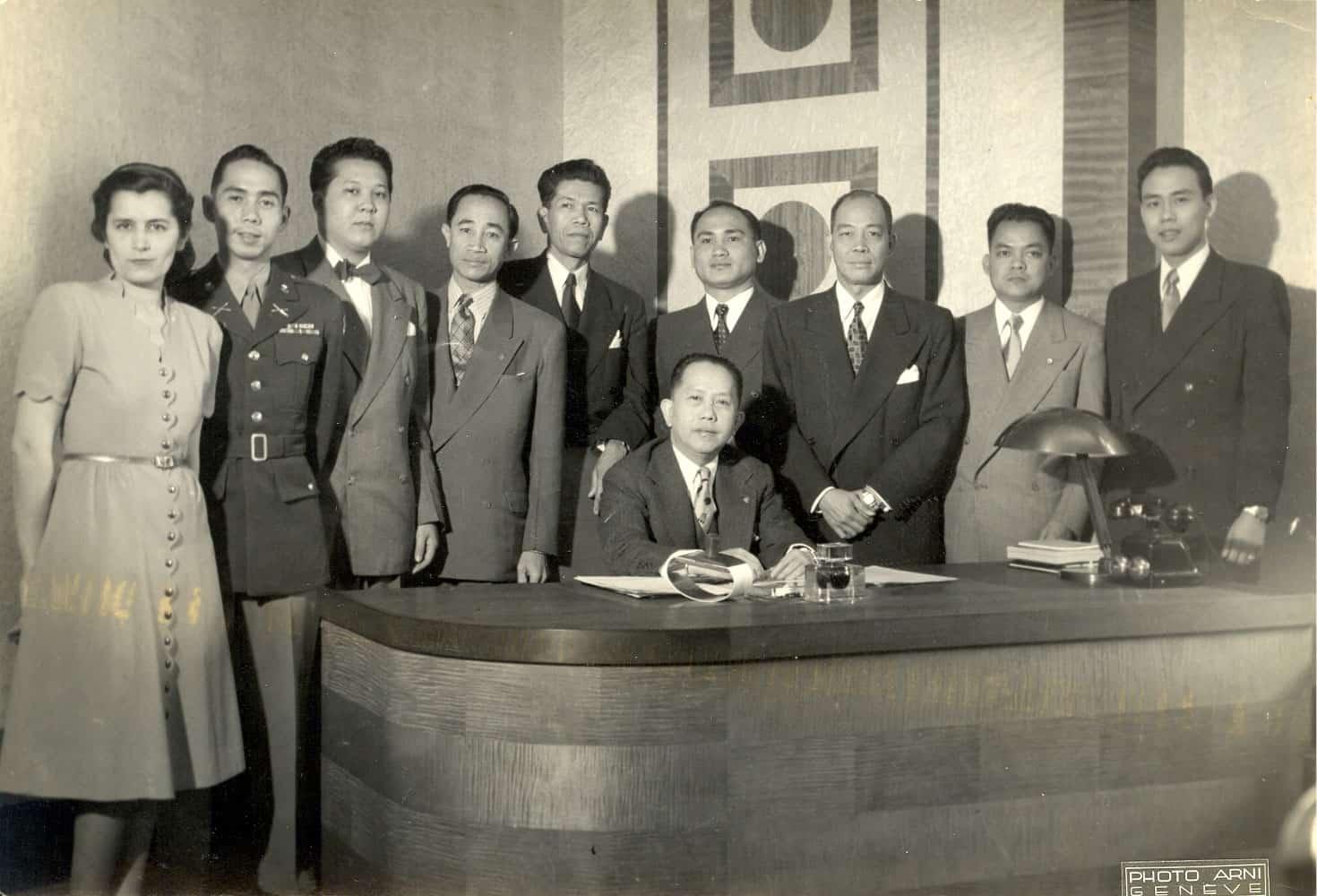 Ann Dragon with Philippine Delegation in Geneva in 1948