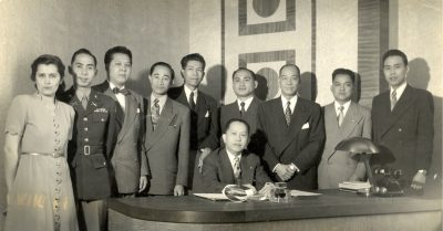 Ann Dragon with Philippine Delegation in Geneva in 1948