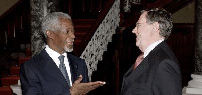Kofi Annan and Frederic Eckhard