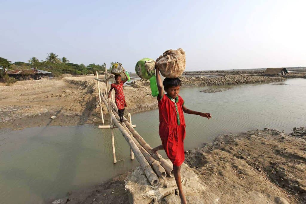 Children from Taplur Char, Bangladesh