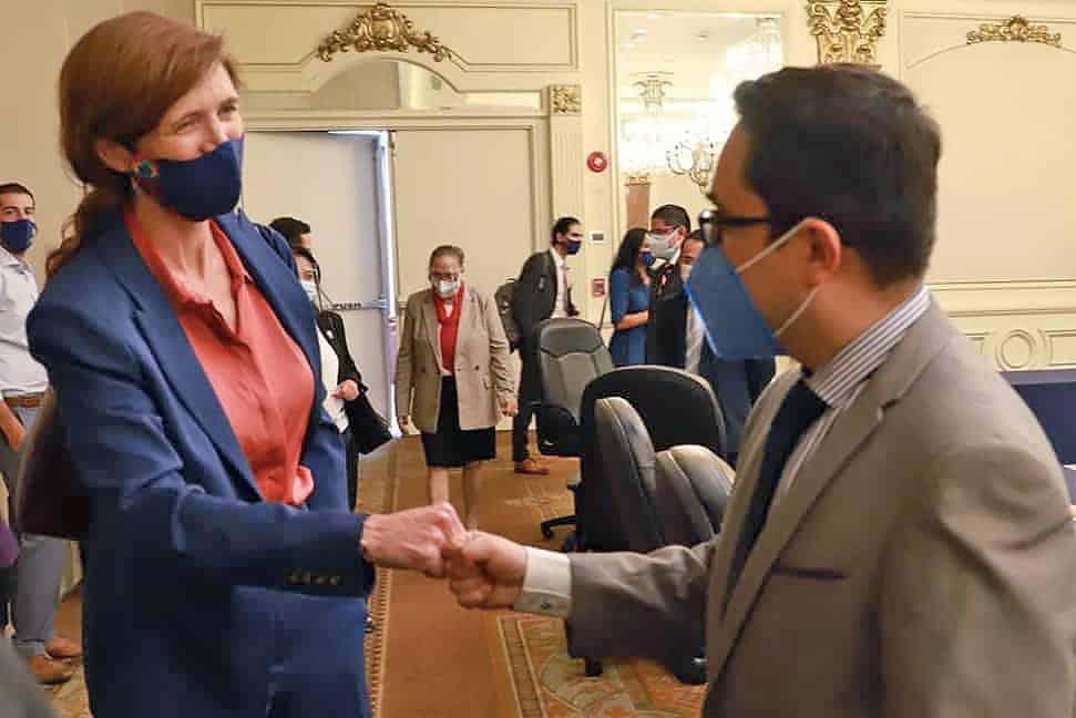 Samantha Power meets with Juan Francisco Sandoval