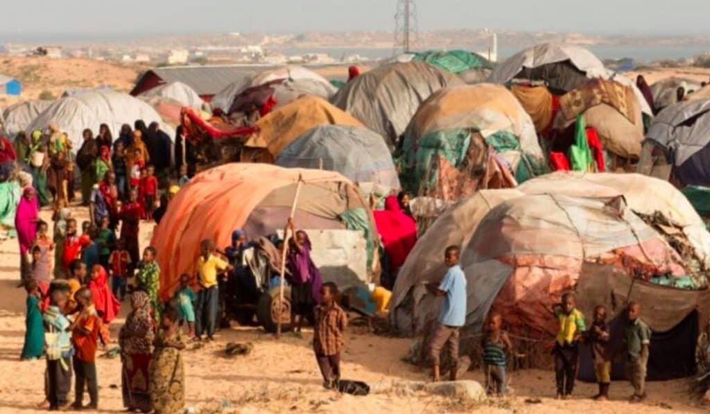 Kismayo camp for internally displaced people in Somalia