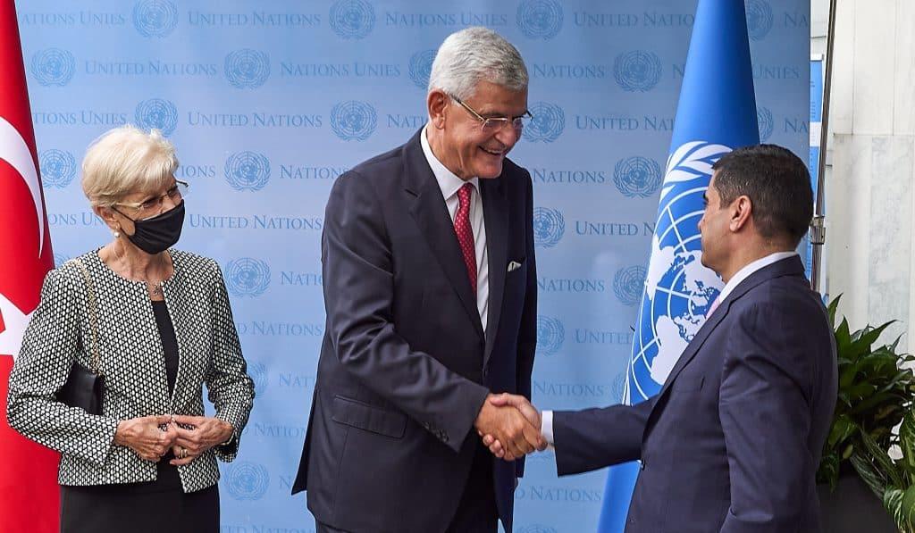 Volkan Bozkir at UN Reception