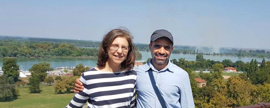 Beth Jacobs and Mansoor-Adayfi in Serbia
